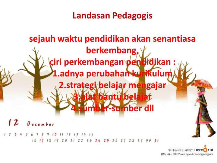 Landasan Pedagogis
