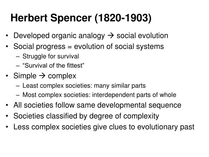 A comparison of herbert spencer and franz boaz theories on the social evolution