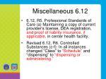 miscellaneous 6 12