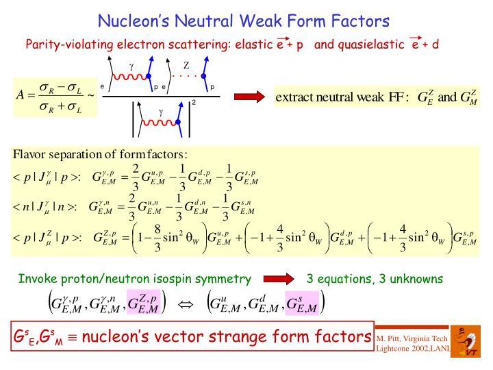 Nucleon's Neutral Weak Form Factors