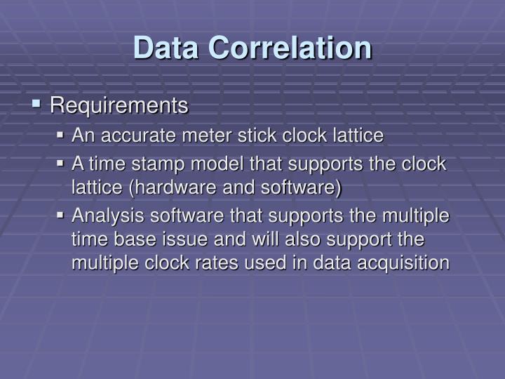 Data Correlation