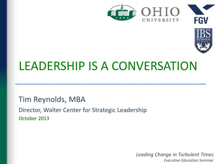 mba leadership strategies for a changing