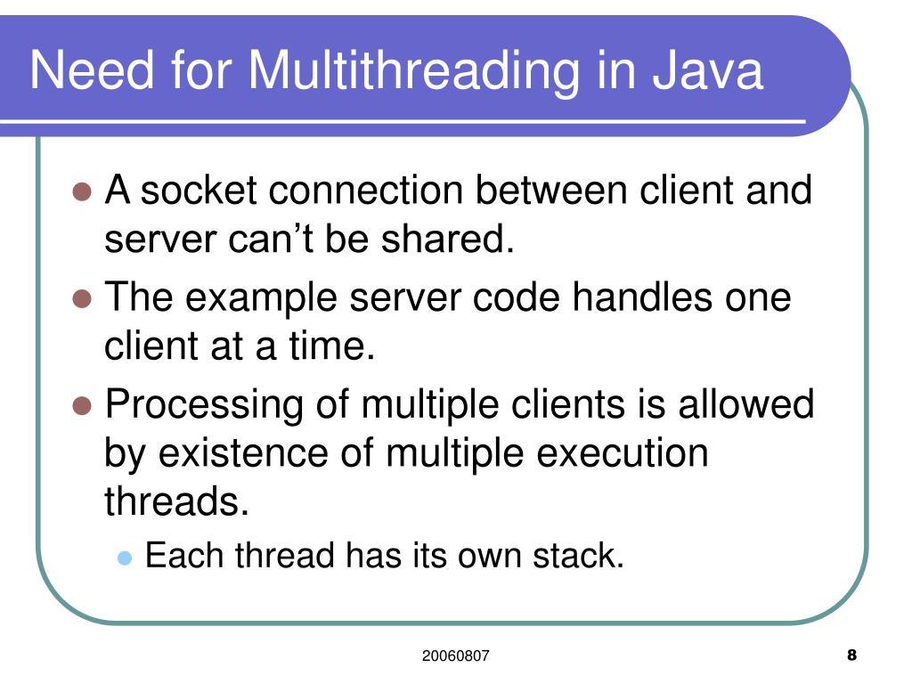 Java Socket Server Multiple Clients