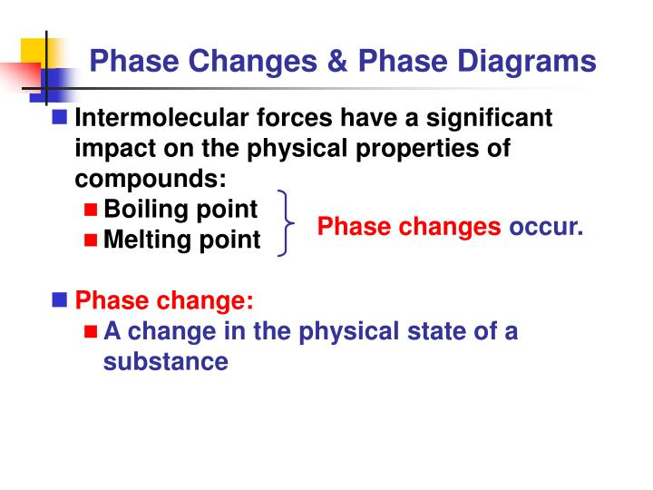 phase changes phase diagrams n.