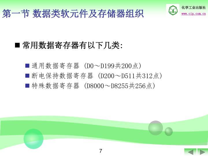 第一节 数据类软元件及存储器组织