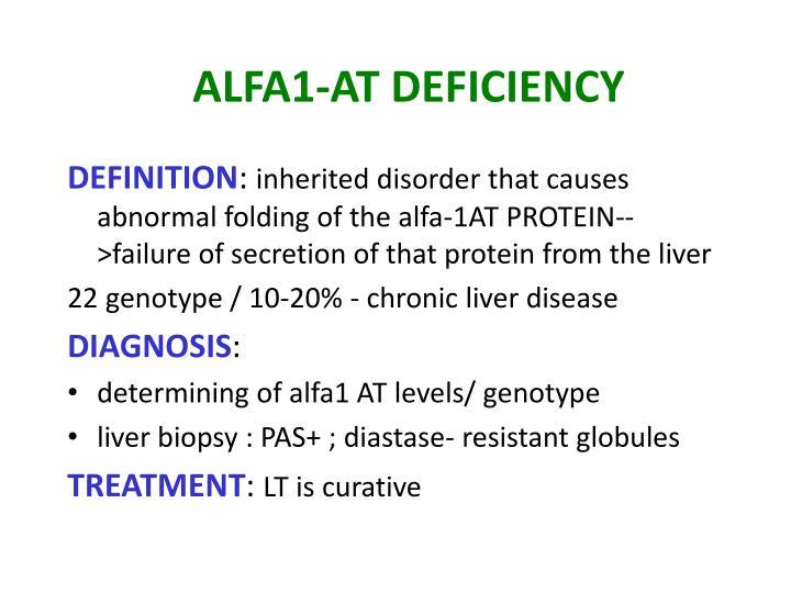 ALFA1-AT DEFICIENCY