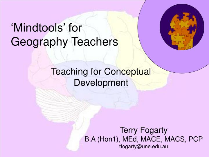 mindtools for geography teachers n.