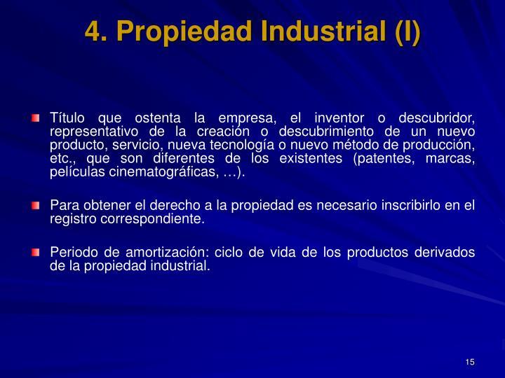 4. Propiedad Industrial (I)