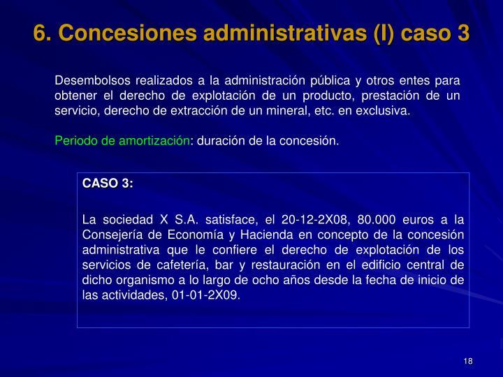 6. Concesiones administrativas (I) caso 3