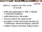 adlib 6 0 support voor sql server en oracle