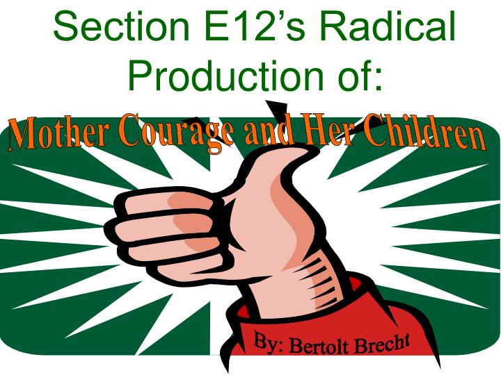 section e12 s radical production of n.