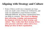 aligning with strategy and culture