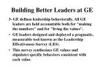 building better leaders at ge2