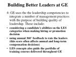 building better leaders at ge4