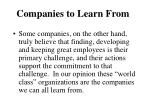 companies to learn from