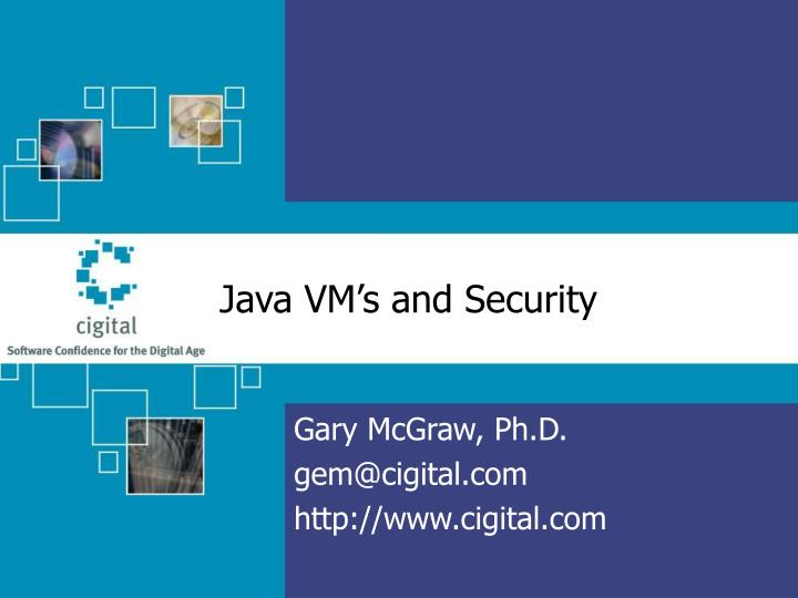 java vm s and security n.