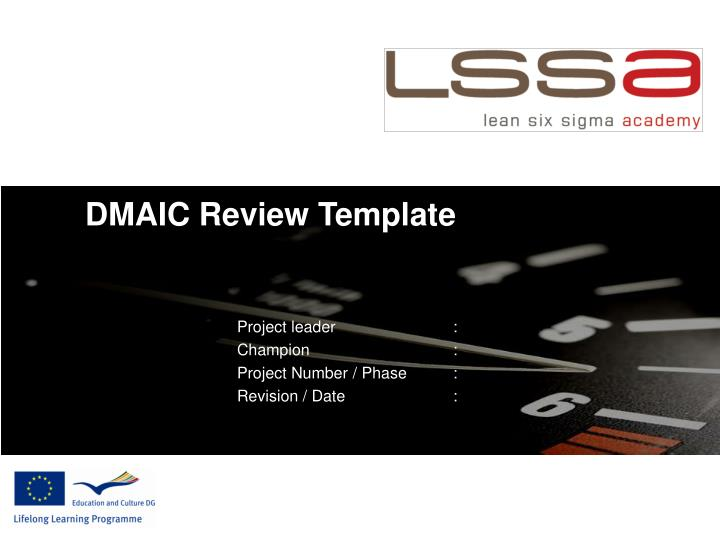 PPT - DMAIC Review Template PowerPoint Presentation - ID:6240954