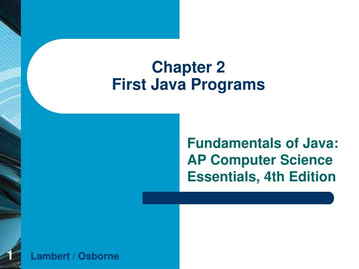 chapter 2 first java programs n.