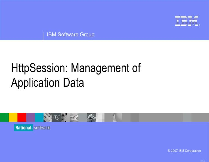httpsession management of application data n.