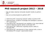 phd research project 2012 2018