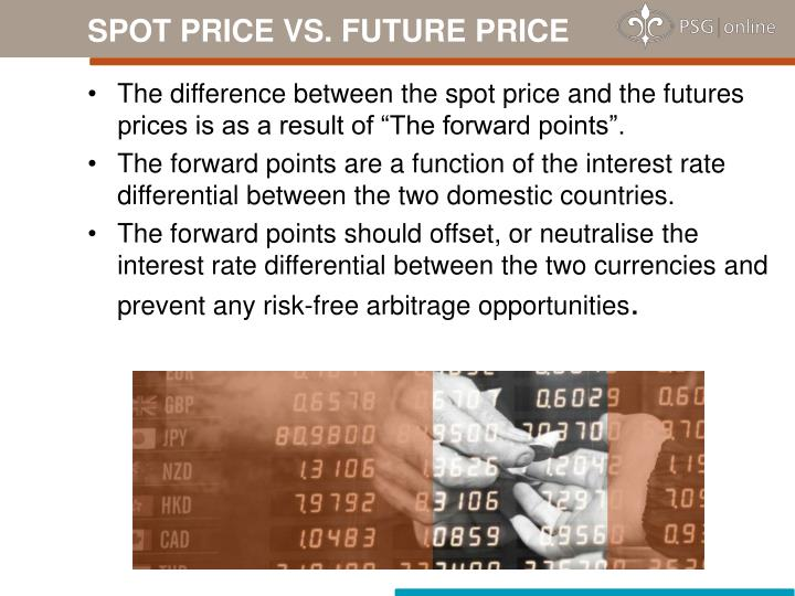 SPOT PRICE VS. FUTURE PRICE