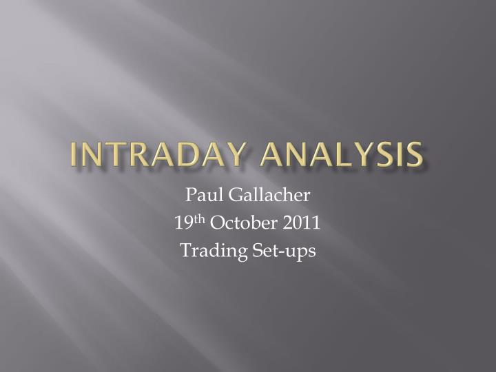 intraday analysis n.