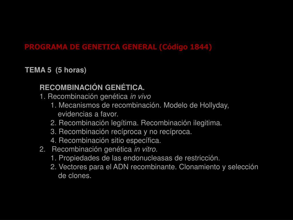 Recombinación genética ppt video online descargar.