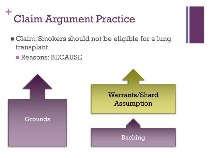 Claim Argument Practice