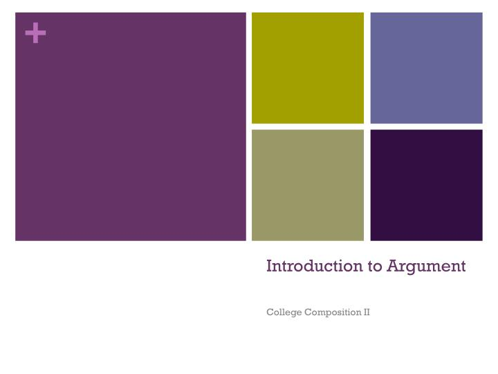 Introduction to argument