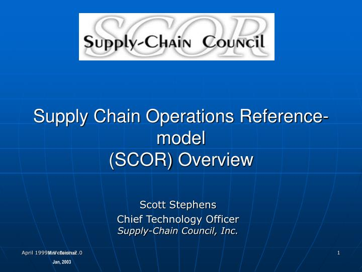 supply chain operations reference model scor overview n.