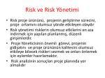 risk ve risk y netimi