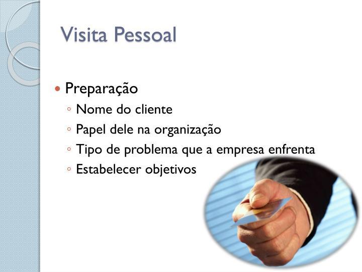 Visita Pessoal