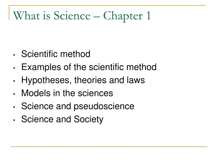 what is science chapter 1 n.