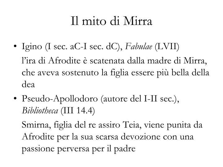 Il mito di Mirra