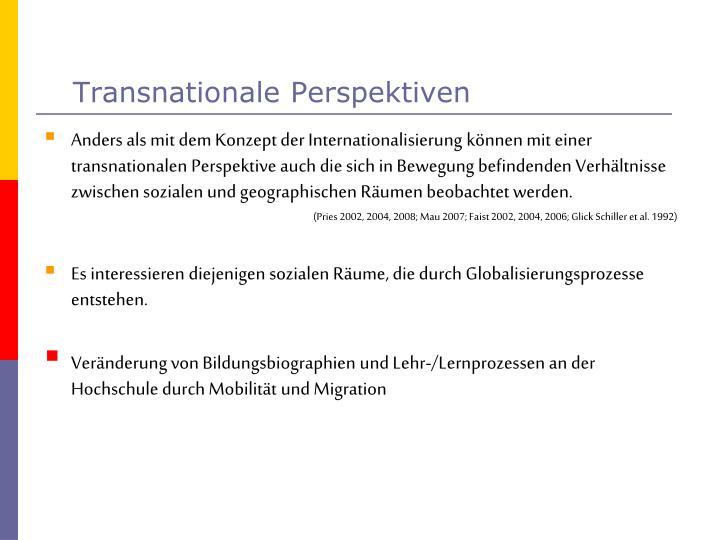 Transnationale Perspektiven