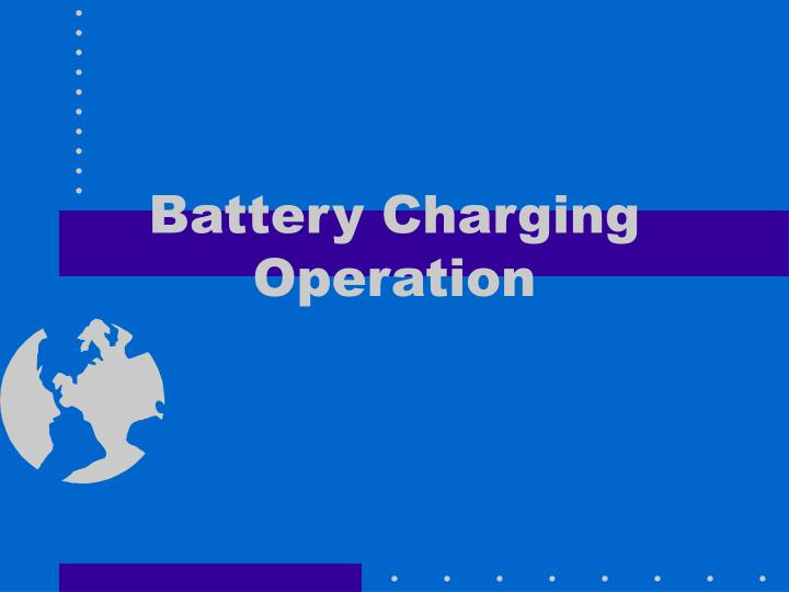 battery charging operation n.