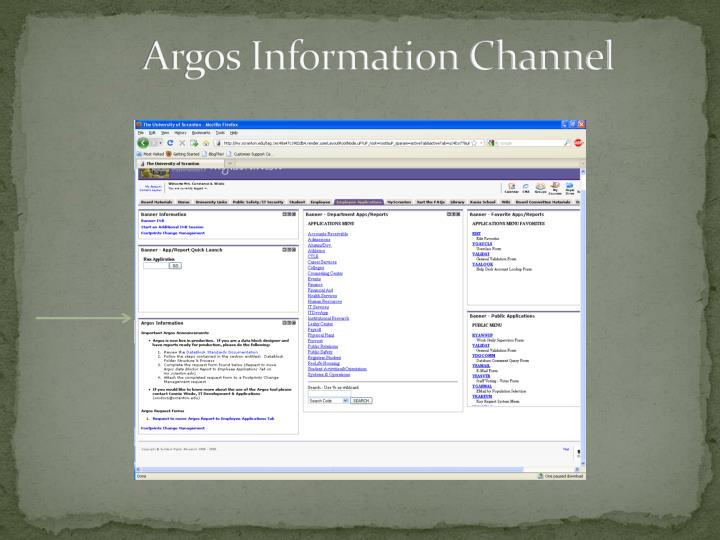 Argos Information Channel
