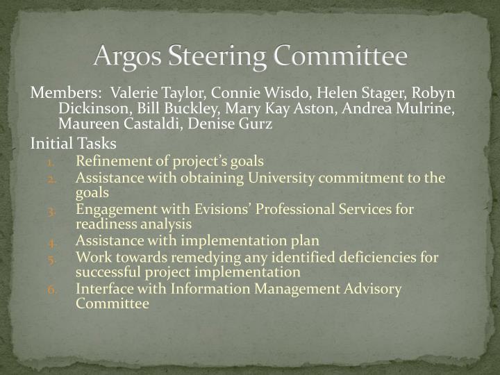 Argos Steering Committee