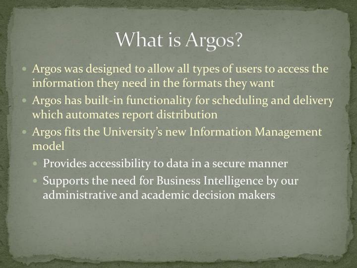 What is argos1