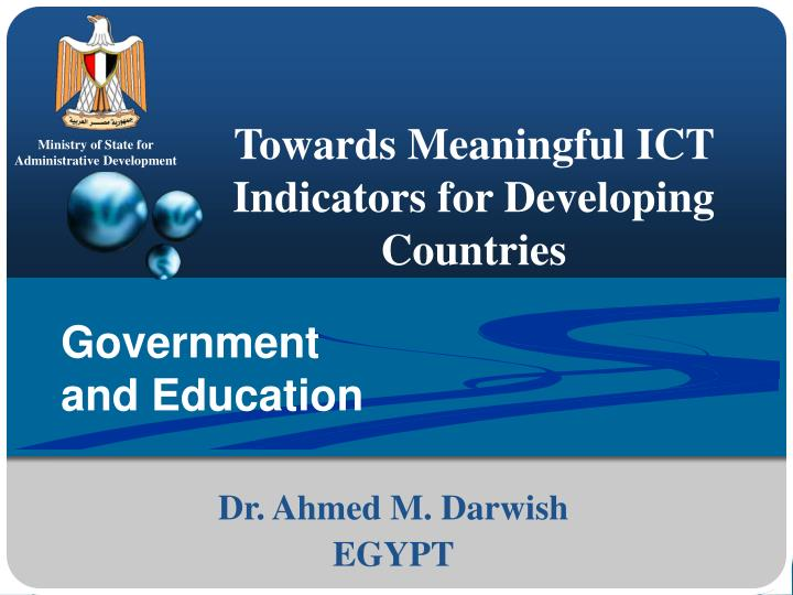 towards meaningful ict indicators for developing countries n.