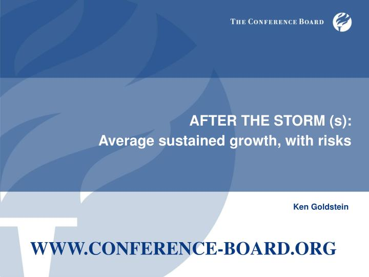 after the storm s average sustained growth with risks n.