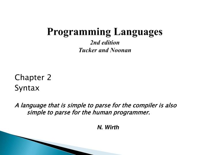 programming languages 2nd edition tucker and noonan n.