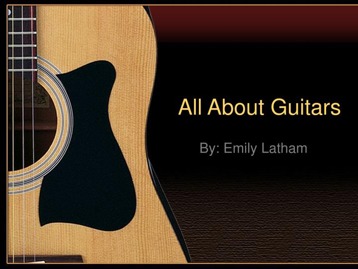 all about guitars n.