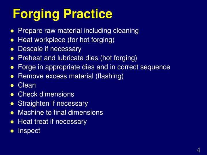 Forging Practice