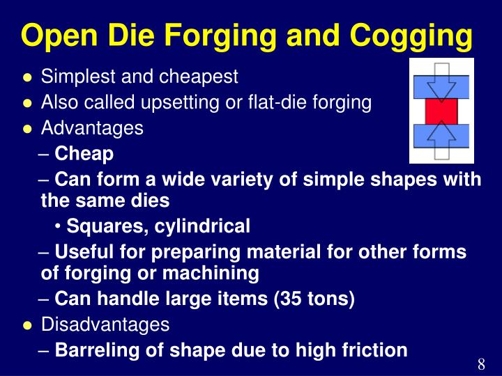 Open Die Forging and Cogging