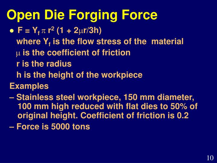 Open Die Forging Force