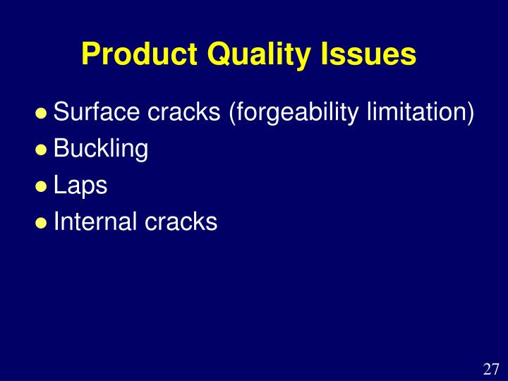 Product Quality Issues