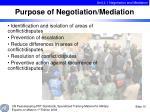 purpose of negotiation mediation