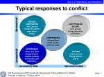 typical responses to conflict