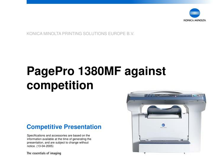 pagepro 1380mf against competition n.